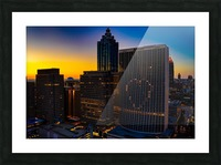 Marriott Marquis Aerial View   Atlanta GA 0650 Picture Frame print