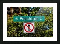 Peachtree St Road Sign   Atlanta GA 7162 Picture Frame print