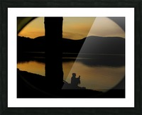contemplation at waters edge Picture Frame print