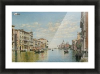 Gondoliers on The Grand Canal in Venice Picture Frame print