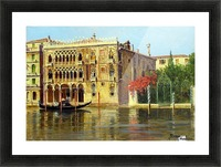 Along the Grand Canal in Venice Picture Frame print