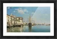 La Chiesa Gesuati from the Canale della Giudecca, Venice Picture Frame print