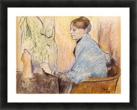 Mme Henri Rouart before a  statue by Degas Picture Frame print
