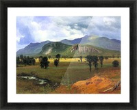 Moat Mountain, Intervale, New Hampshire by Bierstadt Picture Frame print