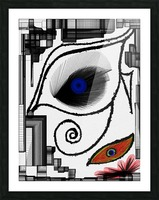 The Eye Picture Frame print