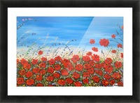 Poppies in the Wind Picture Frame print