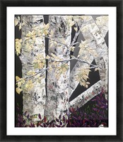 Shaded Birch Picture Frame print