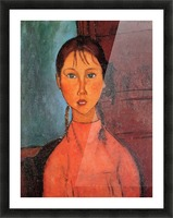 Modigliani - Girl with plaits Picture Frame print