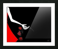 Dropping roses Picture Frame print