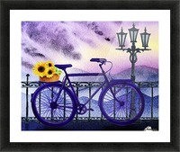 Bicycle And Sunflowers Picture Frame print