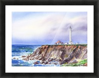 Lighthouse Point Arena California  Picture Frame print