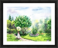 Strolling In The Garden Picture Frame print