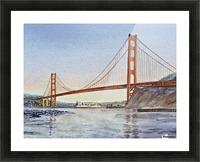 San Francisco California Golden Gate Bridge Picture Frame print