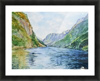Norway Fjord Picture Frame print