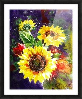 Impressionism And Sunflowers Picture Frame print
