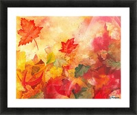 Autumn leaves Serenade  Picture Frame print