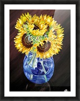 A Bunch Of Sunflowers Picture Frame print