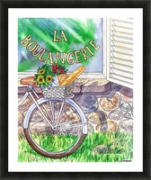 At The French Bakery  Picture Frame print