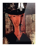 Modigliani - Lady With Hat Picture Frame print