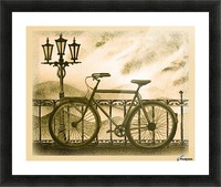Retro Bicycle Picture Frame print