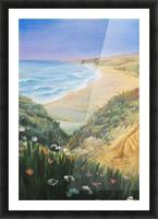 Ocean Shore Through The Hills Picture Frame print