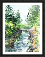 Forest Creek Picture Frame print