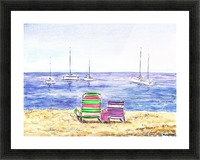Two Chairs On The Beach Picture Frame print