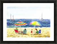 Two Umbrellas On The Beach Picture Frame print