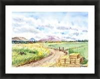 Farm Road The Mountains landsape Picture Frame print