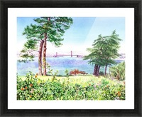 Golden Gate Bridge View From Lincoln Park San Francisco Picture Frame print