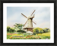 Dutch Windmill in San Francisco  Picture Frame print