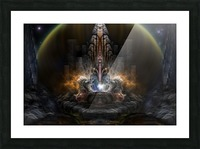 Path Of Shadows Fractal Fantasy Art Picture Frame print