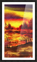 Bright Sunset At The Lake Picture Frame print
