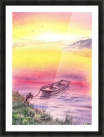 Sunrise At The Lake Picture Frame print