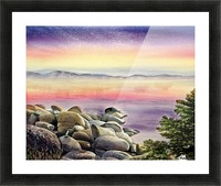 Purple Sunset At The Lake Picture Frame print
