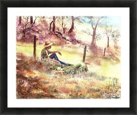 Farmers And Hunters Heaven Picture Frame print