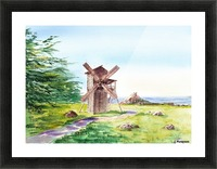 Landscapes Of California Fort Ross Windmill Picture Frame print