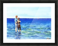 Couple And The Sea Picture Frame print