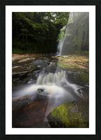 Blaen y Glyn waterfalls Picture Frame print