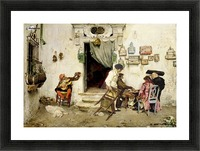 Figaro Shop Picture Frame print