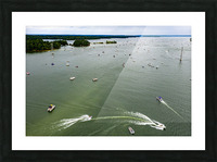 Trump Boat Parade Columbia County 8-29-20 Picture Frame print