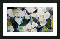 Louisiana Cubist Magnolia Picture Frame print