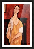 Modigliani - Portrait of Lunia Czechowska with fan Picture Frame print