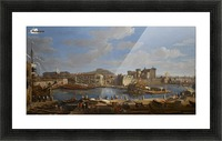 Boats by the river Picture Frame print