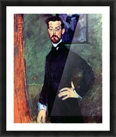 Modigliani - Portrait of Paul Alexanders before a green background Picture Frame print