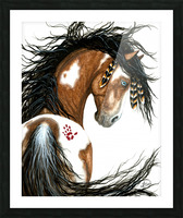 Majestic Pinto Horse Picture Frame print