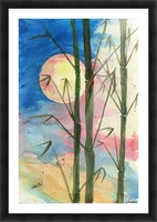 Moonlight Bamboo Picture Frame print