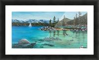 Sand Harbor Picture Frame print
