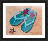Flip Flops Picture Frame print
