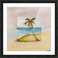 Swaying Palm Picture Frame print